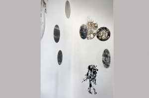 TRANSPARENS 2. Installation af Hanne Linde. Mixed Media.