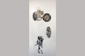 TRANSPARENS 2. Installation af Hanne Linde. Mixed Media.